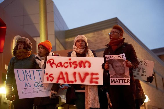Minneapolis was just one of many cities to stage demonstrations in support of Ferguson. - TONY NELSON FOR MINNEAPOLIS CITY PAGES
