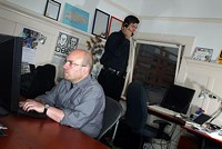 Craig Newmark, foreground, of Craigslist. - GENE X. HWANG (OF ORANGE PHOTOGRAPHY)