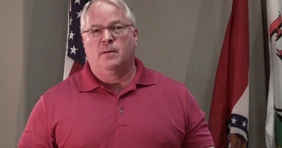 Ferguson Police Chief Tom Jackson in his apology video.