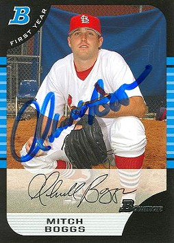 2005 Mitchell Boggs card, by Bowman