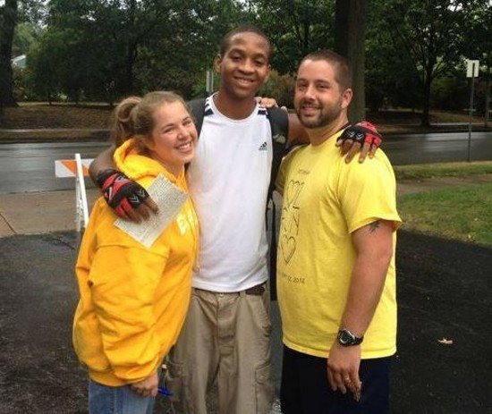Cornell McKay (center) with Pastor Chris Douglas and his wife, Tayra, in August 2012. - FACEBOOK/JUSTICE FOR CORNELL MCKAY