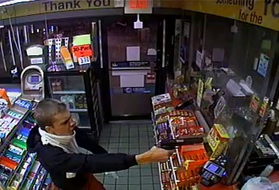 Security camera footage of the robbery. - SLCP