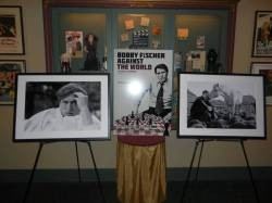 The Tivoli's screening of Bobby Fischer Against the World featured famous photos of the chess giant.