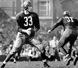 Slingin' Sammy Baugh, whose nickname I shamelessly appropriated for the Rams' current quarterback.