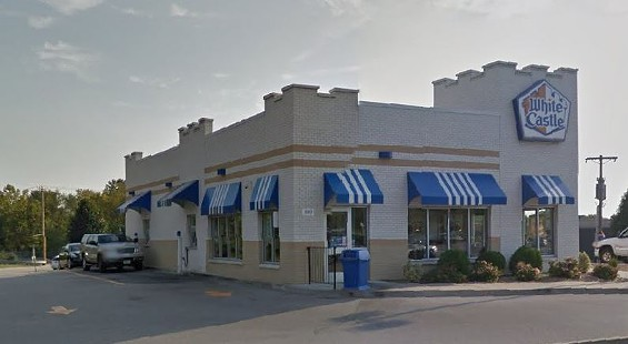 The white driver got ticked off when a black driver got to the White Castle drive-through line before him. - GOOGLE MAPS