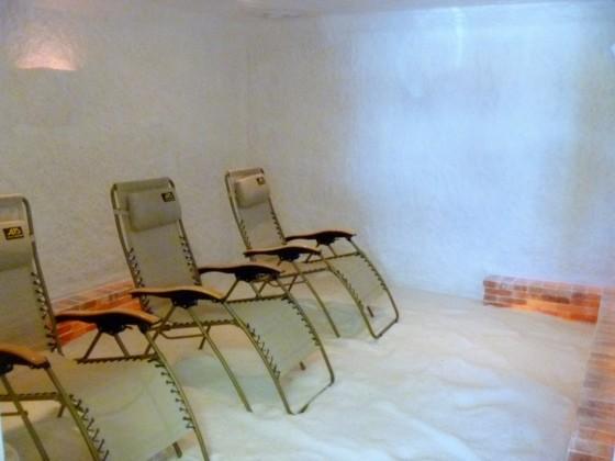 Inside the St. Louis Salt Room.