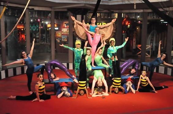 The cast rehearses for Circus Harmony's new show, Guibilante. - ALL PHOTOS COURTESY OF CIRCUS HARMONY