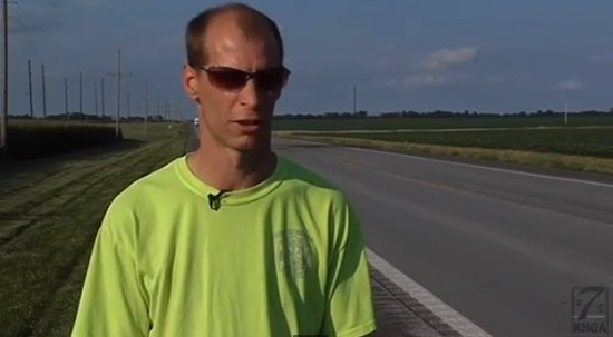 Raymond Reed after the rescue mission. - VIA YOUTUBE / KHQA