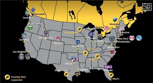 We're on the map! - MAJOR LEAGUE SOCCER