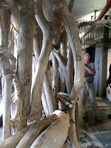 Bob Cassilly at the City Museum -- a place his son is legally barred from visiting. - IMAGE VIA