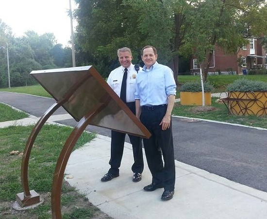 Police Chief Sam Dotson (left) and Mayor Francis Slay. - VIA FACEBOOK / SLMPD