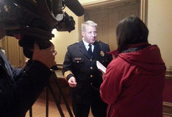 """Chief Dotson is a big proponent of drones and """"intelligence-led"""" policing. - CHIEF SAM DOTSON/TWITTER"""