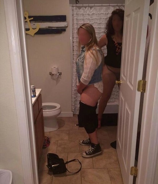 No bathroom lady party is complete without Natty Light. - DEADSPIN