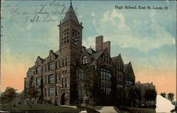 East St. Louis High School 100 years ago. Now a ward of the state of Illinois. - IMAGE VIA