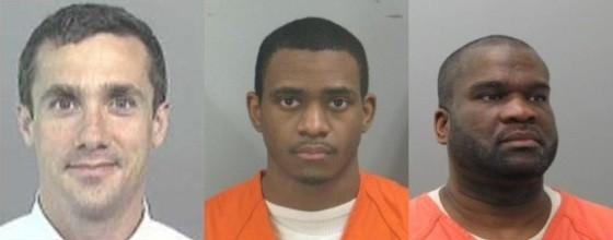 Luke Meiners (left) was murdered in 2008. Ronald Johnson (center) and Cleophus King (right) have both been handed life sentences. - VIA