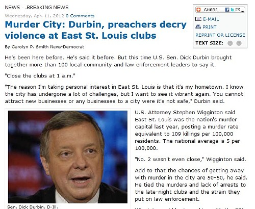 It hasn't been a great week for East St. Louis in the media.