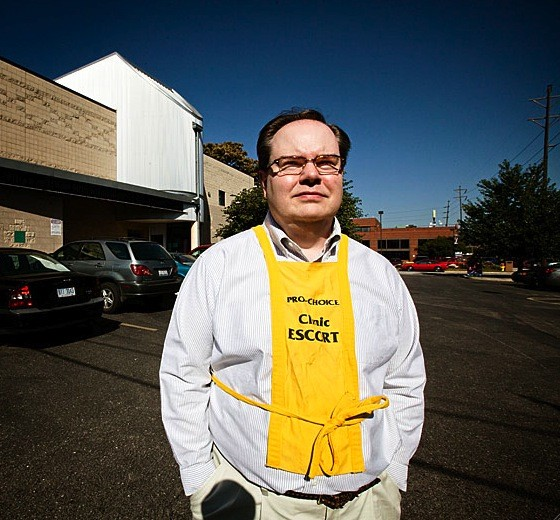 Jeff Farris is a NARAL employee and volunteers as a clinic escort at the Hope Clinic in Granite City, Illinois. - JENNIFER SILVERBERG