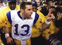 Kurt Waner, after winning the Super Bowl with the Rams.