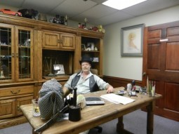 "Joe Kriegesmann: ""Satan's Master"" in his office at The Faciliy - PHOTO BY MELISSA MEINZER"