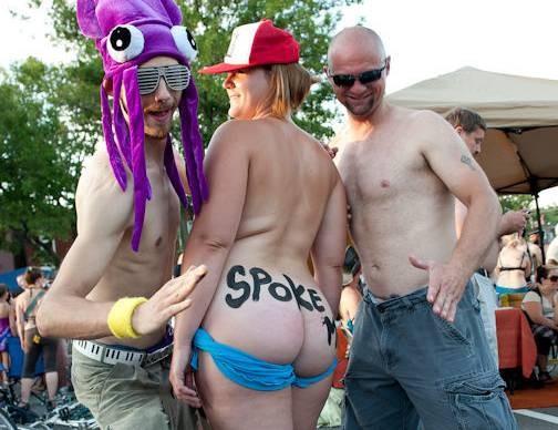 These folks were a little less subtle... - JON GITCHOFF