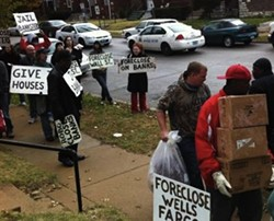 Wells Fargo foreclosure protest last year - LEAH GREENBAUM