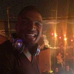 Michael Sam spins on the outdoor patio. - JUST JOHN NIGHTCLUB