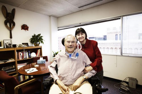 Max Starkloff and his beloved wife and business partner, Colleen - JENNIFER SILVERBERG