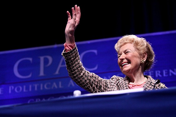 Phyllis Schlafly has her own conspiracy theory about Ebola. - GAGE SKIDMORE VIA FLICKR
