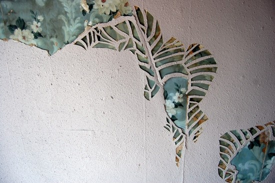 A detail of Trosclair's work Excavate at 3531 California Ave. - PHOTO COURTESY OF CARLIE TROSCLAIR