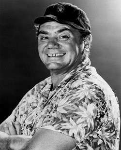 "Ernest Borgnine during his ""McHale's Navy"" years."