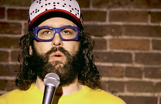 Judah Friedlander, lover and hater of Imo's Pizza. - ADRIEN GOULET