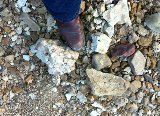 Rocks along the Meramec River by Steelville where the shooting happened. - COURTESY OF MICHAEL BERT