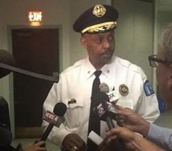 Lt. Col. Adkins addressing the media last night. - VIA TWITTER