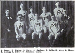 The 1906-07 Missouri Tigers basketball team. What does this have to do with the current version? Absolutely nothing. It's a really cool picture, though.