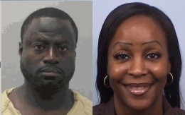 Hosie Taylor (left) has is in police custody as a suspect in the murder case of former County security guard, Deirdre Exum (right) - ST. LOUIS COUNTY POLICE