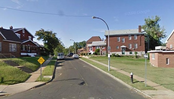 The 5700 block of Pamplin as viewed from West Florissant.