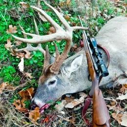 A monster buck killed in Missouri in 2012. - IMAGE VIA