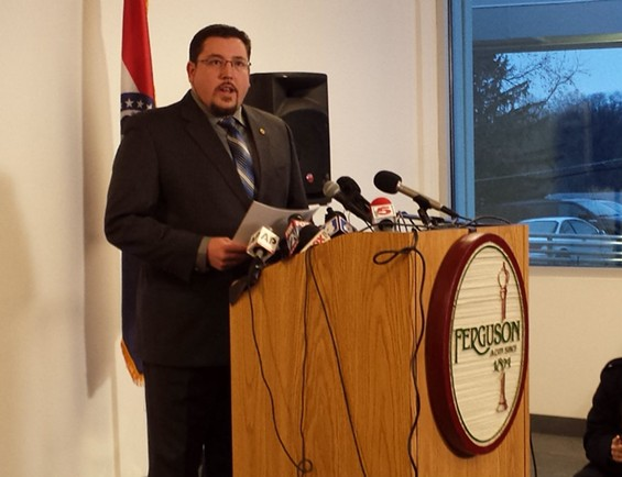 Mayor James Knowles III responds to DOJ report without Chief Tom Jackson. - JESSICA LUSSENHOP