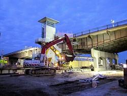Demoltion of the old Grand elevators began March 18, 2011. - METRO TRANSIT STL