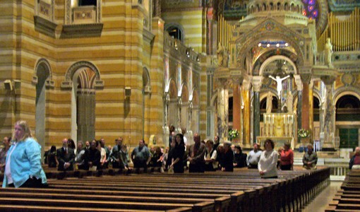 Mickey's funeral in St. Louis' largest church. - PHOTO: CHAD GARRISON