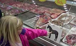 Horse: We're told it does not taste like chicken.