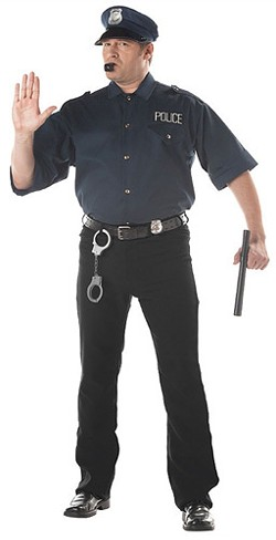 If your traffic officer is dressed like this, you may be stopped in the name of love. - POLICECOSTUMES.COM