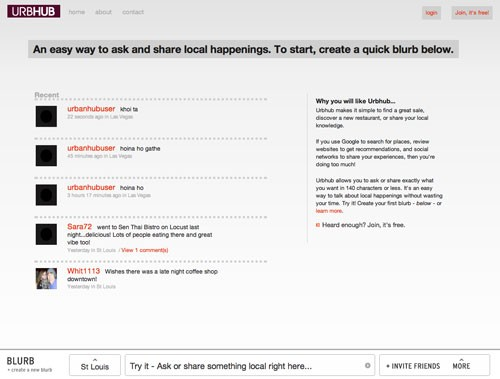 Screenshot of Urbhub