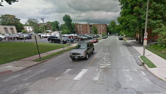 The 200 block of North Boyle Avenue, where a woman was robbed at gun-point on August 10, 2012. - GOOGLE