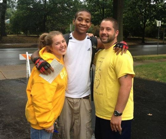 Cornell McKay (center) with Pastor Chris Douglas and his wife Tayra in August 2012. - FACEBOOK/JUSTICE FOR CORNELL MCKAY