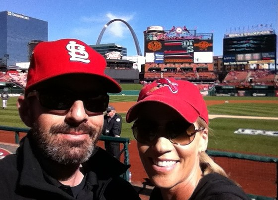 Bart Cohn with his wife (and his beard). - COURTESY OF COHN