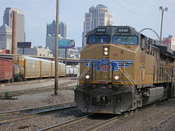 A Union Pacific train rolls through St. Louis. - PAUL SABLEMAN ON FLICKR