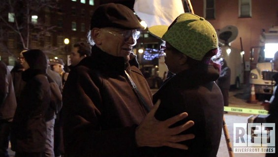 Tears and hugs after the grand jury's announcement. - TONY BARSANTI