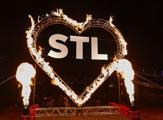 St. Louis celebrated its 250th birthday withThe Burnin' Love Festival Tuesday, February 18, on Art Hill in Forest Park. - STEVE TRUESDELL