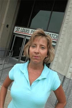 Tuft outside the Post-Dispatch in 2006 -- a year before being mugged.
